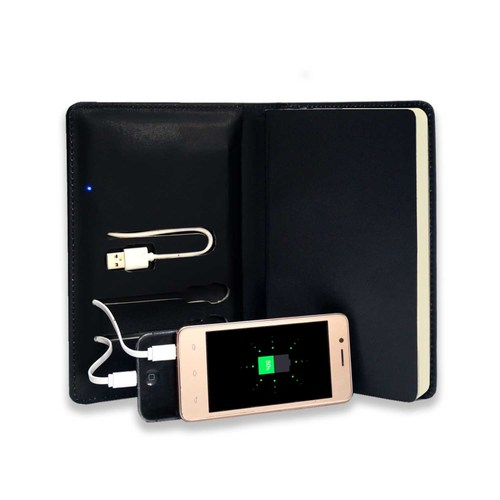 Mini Techbook with 2500 mAh Power Bank