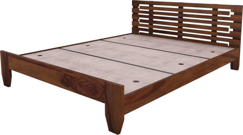 Fn bed solid sheesham wood with out box