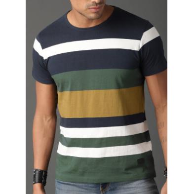 Cotton Round Neck Designer T Shirt  ------  Rs 100/ Piece