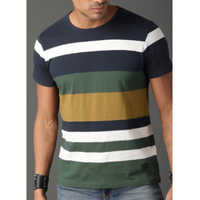 Cotton Round Neck Designer T Shirt  ------  Rs 100/ Piece