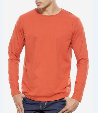Rust Orange Full Sleeve T-Shirt