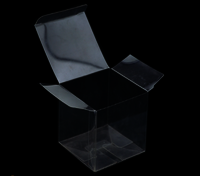 5*5*5cm Transparent PVC Packaging Box
