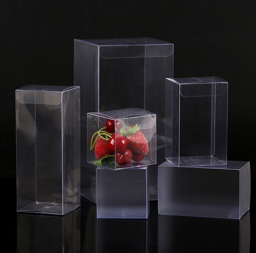 Transparent PVC PET Folding Plastic Box With Hanger