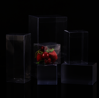 Custom Transparent Clear PVC PET Folding Plastic Box With Hanger