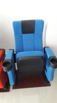 blue color theater chair
