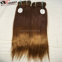 Remy Hair Color Silk Straight Human Hair Weave