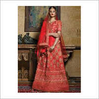 Bridal Wear Lehenga Red Color