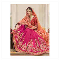 Bridal Wear Saree red color