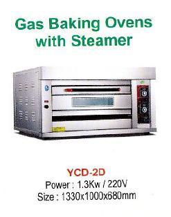 Gas Baking Ovens With Steamer