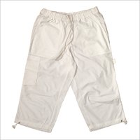 Mens Plain White Cotton Short
