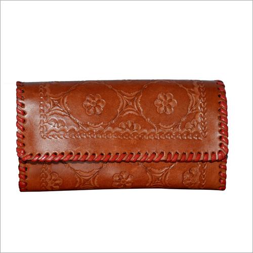 Ladies Leather Engraved Wallet