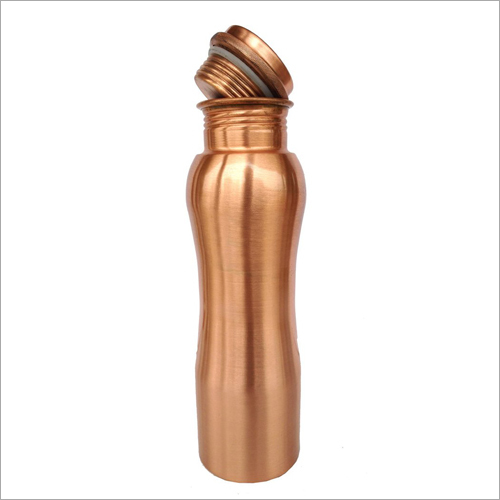 Curved Shaped Copper Bottle
