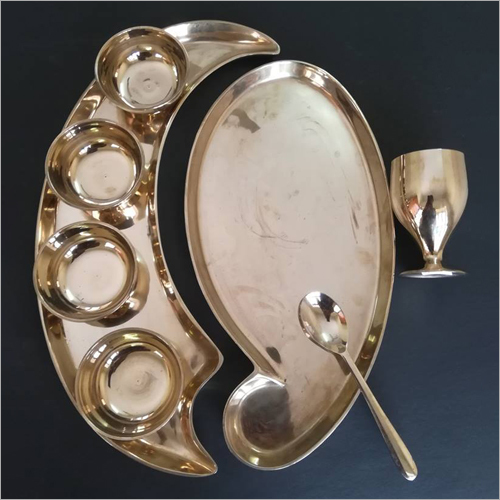 Banana Shaped Bronze Thali Set