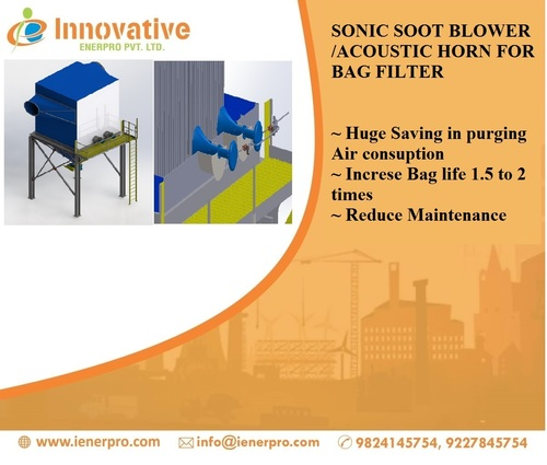 Sonic Soot blower for bag filter