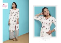 Rayon kurtis with plazzos
