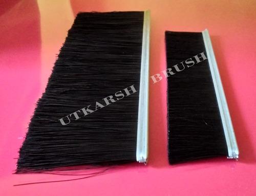 Nylon Bristle Metal Channel Strip Brushes