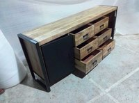 Sideboard or Storage Cabinets with 6 Racks & 2 Doors.