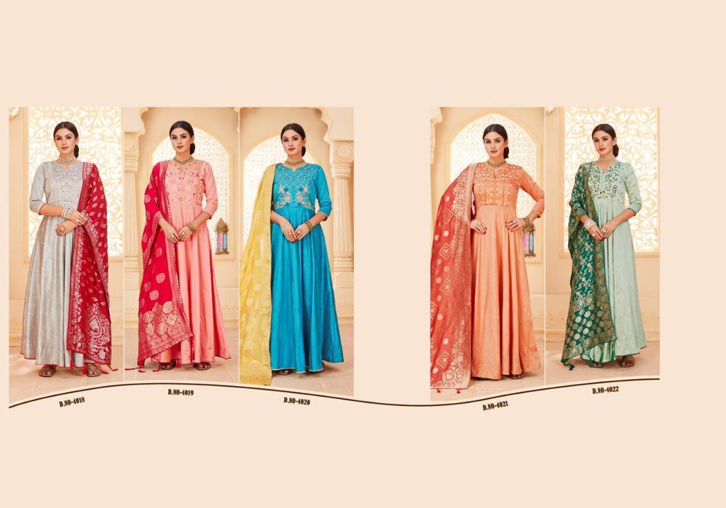 Anarkali Banarasi Dupatta Suits