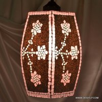 Dholak Shape Glass Wall Hanging