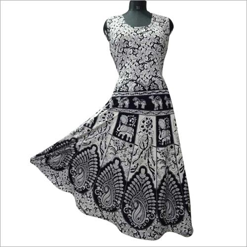 Ladies Anarkali Cotton Printed Kurtis