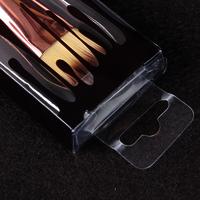 Transparent PVC Cosmetic Plastic Box Nail Art Stamper Packaging Box