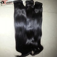 Natural Pure Unprocessed Straight Double Drawn Human Weft Hair