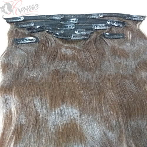 100 Human Hair Extension Strong Clip InHair Extensions Silky Straight Black Color