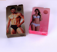 PP PET PVC materials plastic boxes underwear packaging pet box