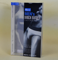 Underwear packaging PVC Plastic box with hanger