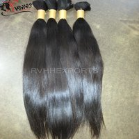 Bulk Weft Extension Remy Hair Silky Straight Wave