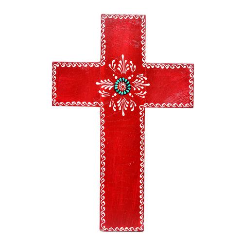 Home Decorative Handmade Wooden Painted Cross Jesus Wall Hanging