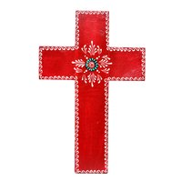 Home Decorative Handmade Wooden Painted Cross Jesus Wall Hanging