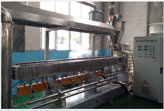 Plastic recycling machine Co-paraller twin screw granulating machine