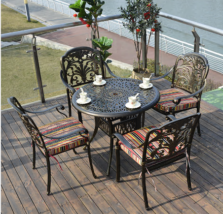 4+1 outdoor patio table and chair sets furniture supplier