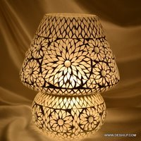 Antique-Style Glass Table Lamp