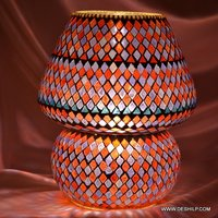 Antique Table Lamp Glass Made