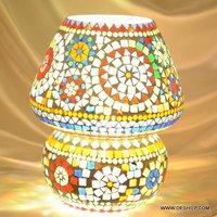Mosaic Lamp Glass Made