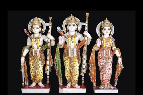 Marble Moorti Ram Darbar Statue