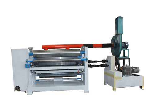 Professional Corrugated Cardboard Production Line SF-300 Oil Heating Single Facer Gimbal Drive