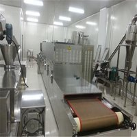 Tunnel Conveyor Belt Microwave Prawn Cooking Processing Equipment for Sale