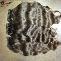 Natural Wavy Virgin Remy Human Hair Weaving Extension