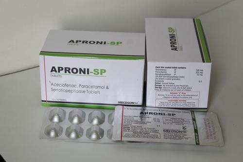 Aceclofenac, Paracetamol & Serratiopeptidase Tab.