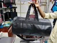 Leatherite gym bag