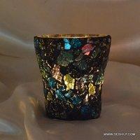Creak Glass Colorful T Light Candle