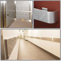 Stainless steel wall guard