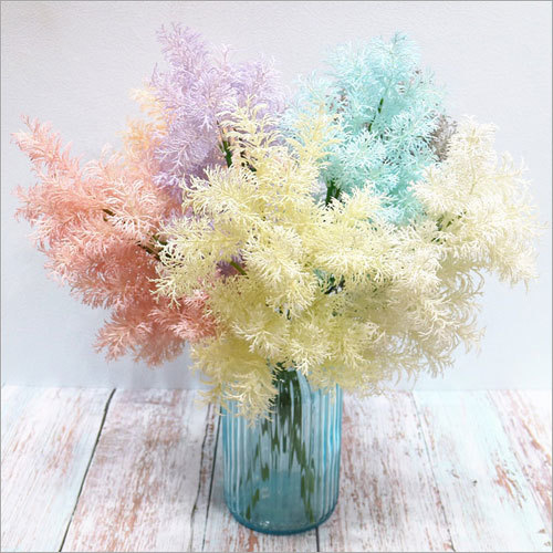 Wedding Artificial White Colorful Rime Fog Grass Flowers Wedding Plants
