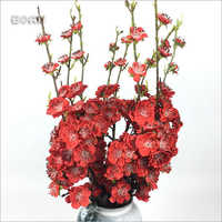 Chinese Hotel Artificial Flower Silk Red Pink Plum Blossom