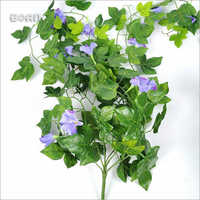 Morning Glory Artificial Flower Leaves Wall Hanging