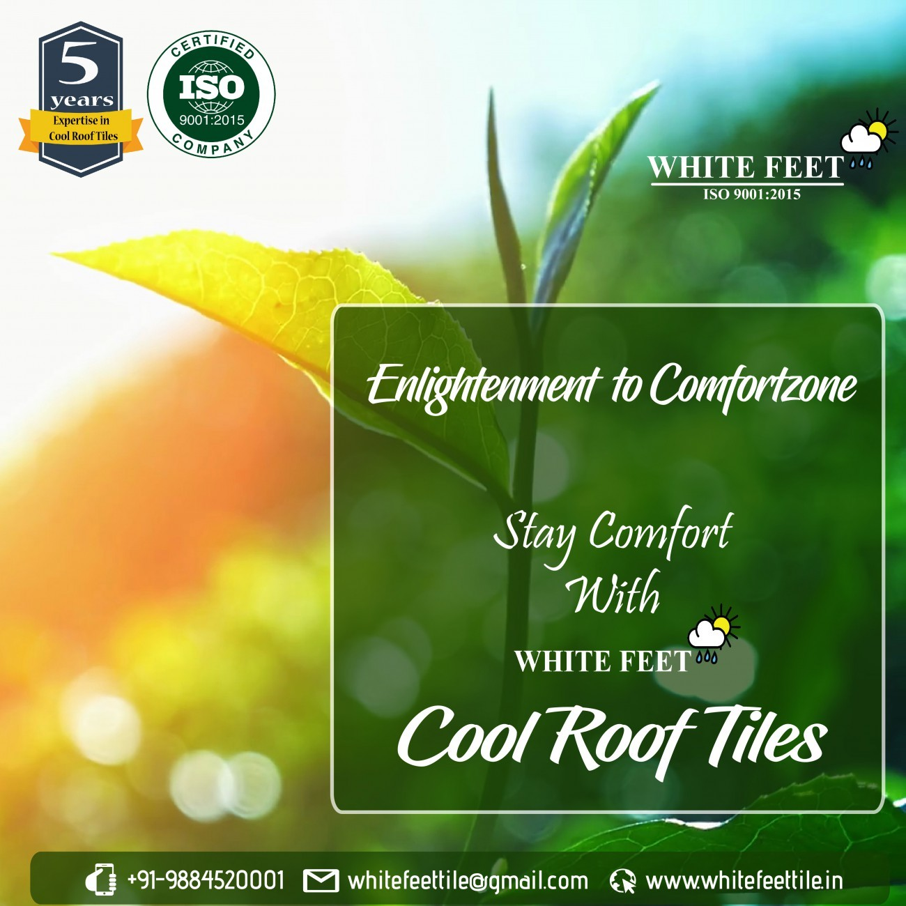 WHITE ROOF TILE -  WHITEFEET
