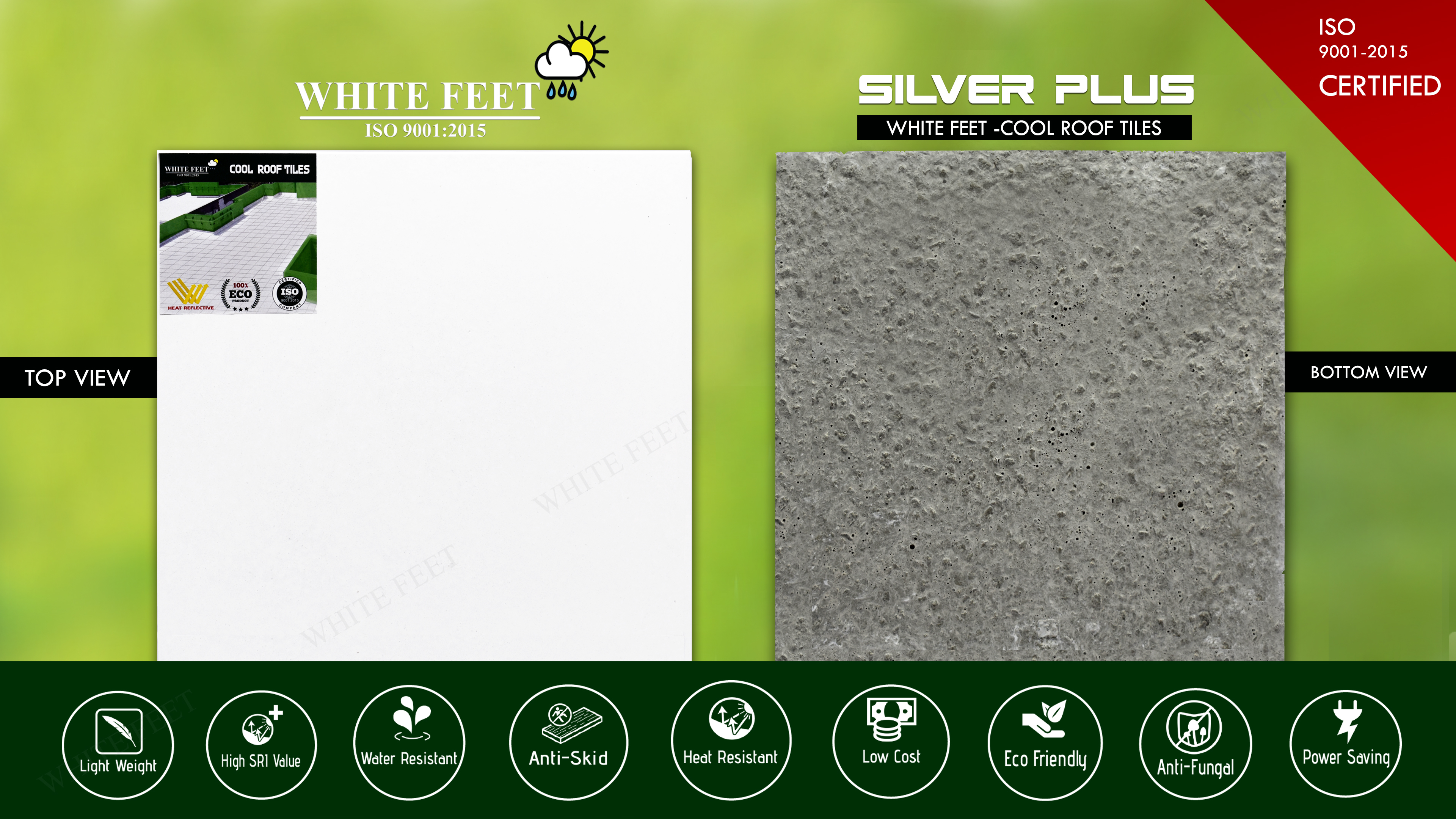 COOLING ROOF TILES WHITEFEET
